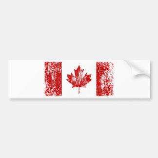 Orgullo de la bandera de Canadá Pegatina De Parachoque