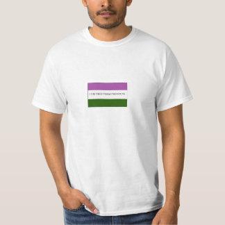 Orgullo de la bandera de Genderqueer Nonbinary Polera