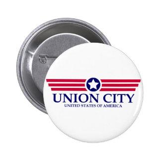 Orgullo de la ciudad NJ de la unión Pin Redondo 5 Cm