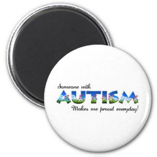 Orgullo de la conciencia del autismo imán para frigorifico
