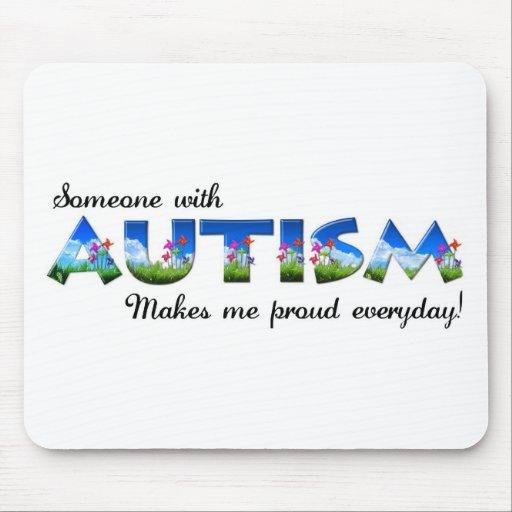 Orgullo de la conciencia del autismo alfombrillas de ratón