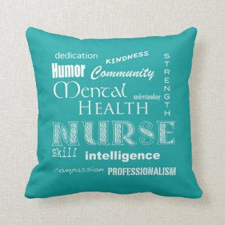 Orgullo de la enfermera de salud mental cojines