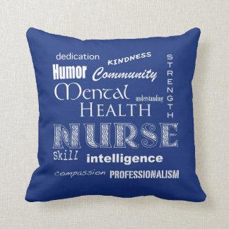 Orgullo de la enfermera de salud mental almohada