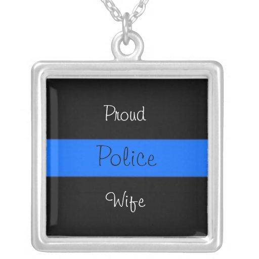 Orgullo de la esposa de la policía grimpolas personalizadas