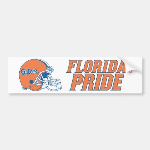 Orgullo de la Florida - naranja y azul Pegatina De Parachoque