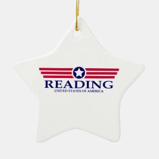 Orgullo de la lectura adorno de cerámica en forma de estrella