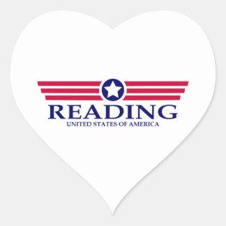 Orgullo de la lectura pegatina en forma de corazón