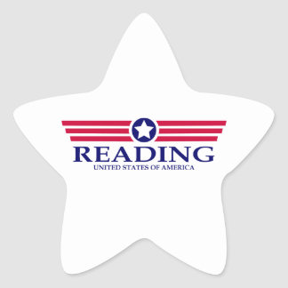 Orgullo de la lectura pegatina en forma de estrella