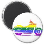Orgullo de la motocicleta de GLBT Imán