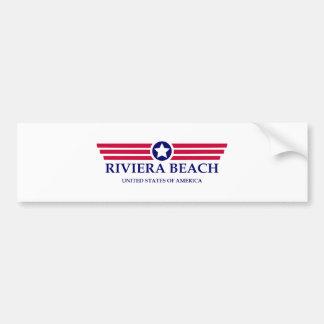 Orgullo de la playa de Riviera Pegatina Para Auto