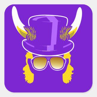 Orgullo de la púrpura de Ross Smith Pegatina Cuadrada