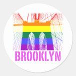 Orgullo de la silueta del puente de Brooklyn Pegatina