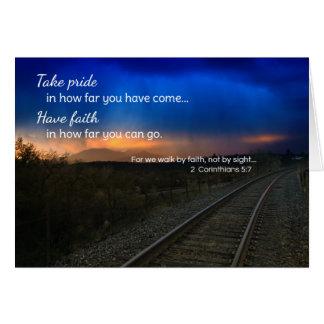 Orgullo de la toma en hasta dónde usted ha venido… tarjeta de felicitación