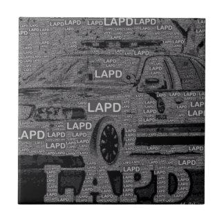 Orgullo de LAPD Azulejo Cuadrado Pequeño