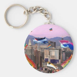 Orgullo de Las Vegas Llavero Redondo Tipo Pin