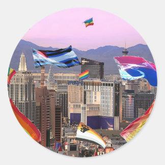 Orgullo de Las Vegas Pegatinas Redondas