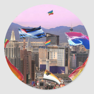 Orgullo de Las Vegas Pegatina Redonda
