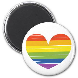 Orgullo de LGBT Imán Redondo 5 Cm