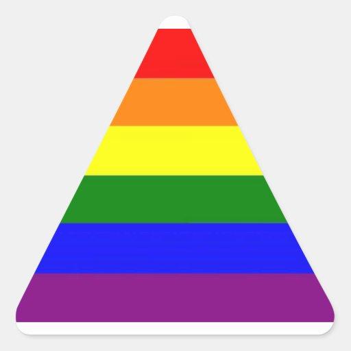 Orgullo de LGBT Pegatina Triangular