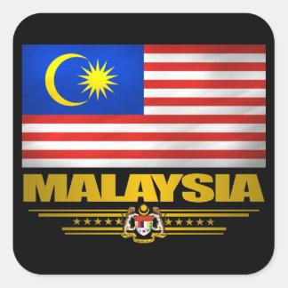 """""""Orgullo de Malasia """" Calcomania Cuadrada Personalizada"""