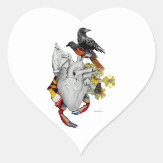 Orgullo de Maryland Pegatina En Forma De Corazón