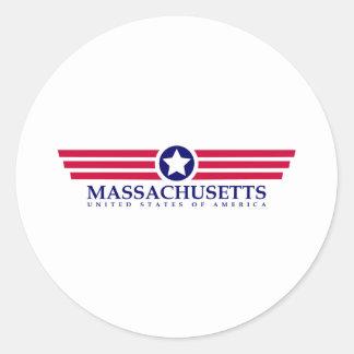Orgullo de Massachusetts Pegatinas Redondas