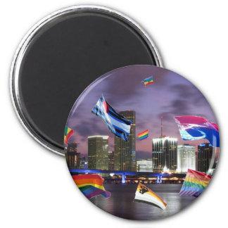 Orgullo de Miami Imán Redondo 5 Cm