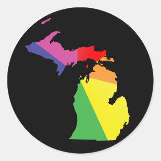 orgullo de Michigan Etiquetas Redondas
