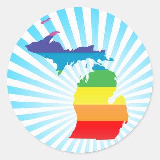 orgullo de Michigan Etiqueta Redonda