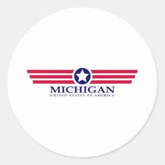 Orgullo de Michigan Pegatinas Redondas