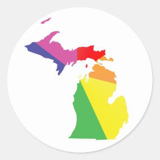 orgullo de Michigan Pegatina Redonda