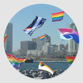 Orgullo de Milwaukee Pegatina Redonda