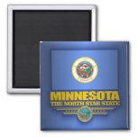 Orgullo de Minnesota Imán Cuadrado