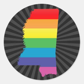 orgullo de Mississippi Pegatinas Redondas
