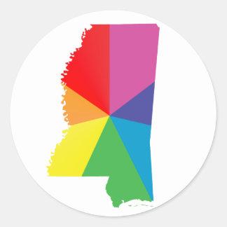 orgullo de Mississippi Etiquetas Redondas
