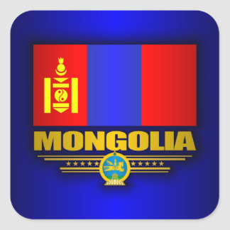 Orgullo de Mongolia Pegatina Cuadrada