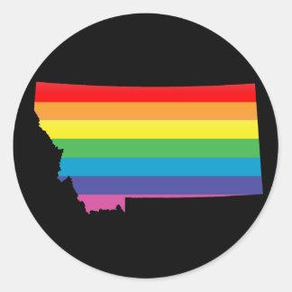 orgullo de Montana Etiquetas Redondas