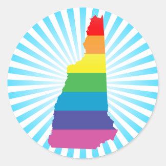 orgullo de New Hampshire Pegatina Redonda