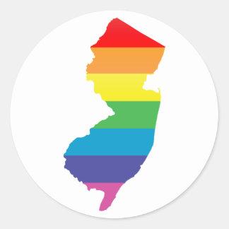 orgullo de New Jersey Pegatina Redonda