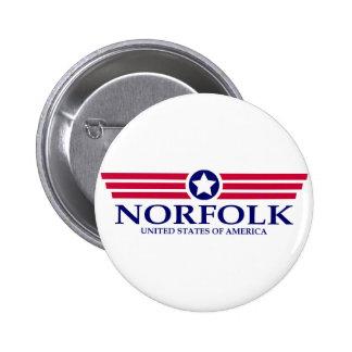 Orgullo de Norfolk Pin Redondo 5 Cm