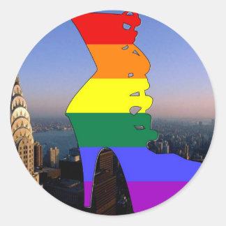 Orgullo de Nueva York Pegatina Redonda