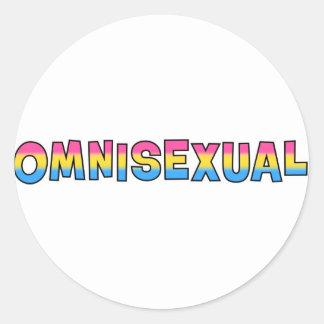 Orgullo de Omnisexual Pegatinas Redondas