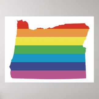 orgullo de Oregon Póster