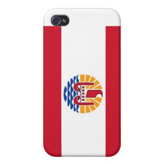 Orgullo de Polynsesian: Bandera de TAHITÍ iPhone 4 Protectores