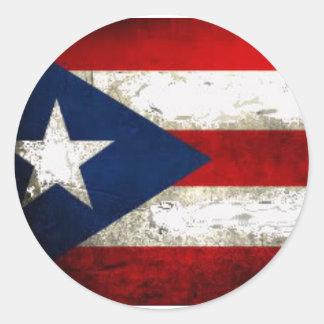 Orgullo de Puerto Rico Pegatina Redonda