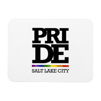 ORGULLO DE SALT LAKE CITY - .PNG IMÁN RECTANGULAR