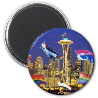 Orgullo de Seattle Imán Redondo 5 Cm
