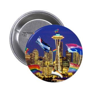 Orgullo de Seattle Pin Redondo De 2 Pulgadas