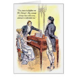 Orgullo de Sr. Darcy de Jane Austen y valor del pe Tarjetas