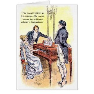 Orgullo de Sr. Darcy de Jane Austen y valor del Tarjeta De Felicitación